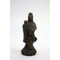 18th 19th century Chinese bronze Guanyin