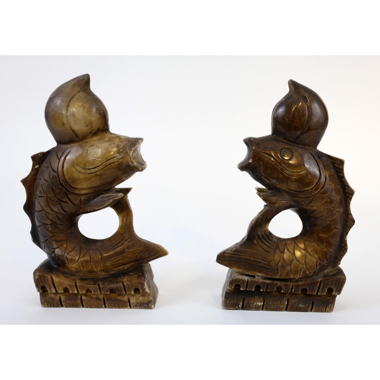Pareja de peces chinos siglo XIX