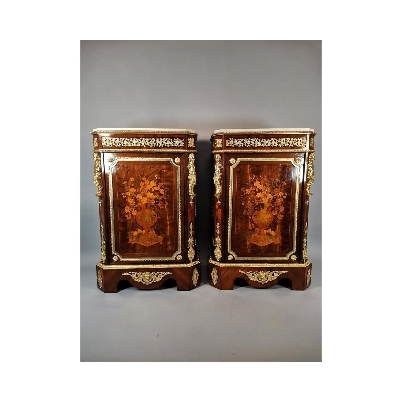 Pareja muebles auxiliares, siglo XIX