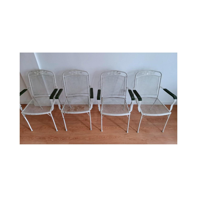 Juego 4 sillas de jardín años'40