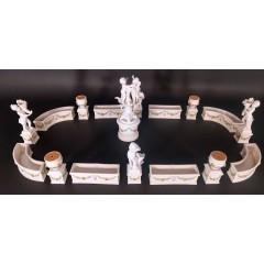 Centro de mesa de porcelana, siglo XIX