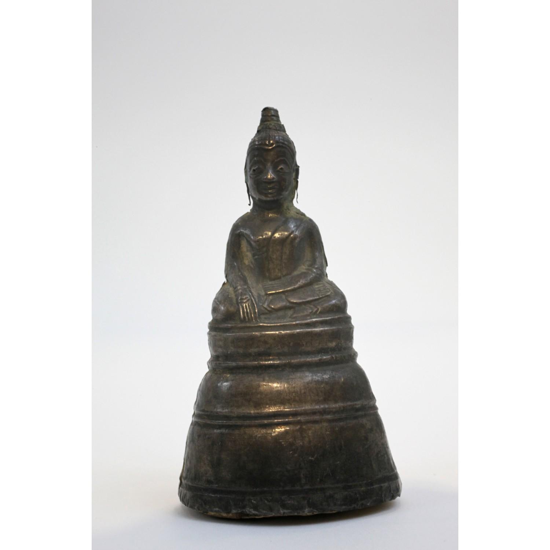 Antique 19th century silver Thai Buddha