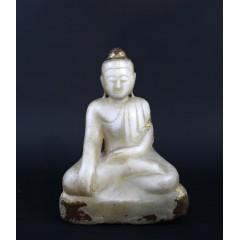 Buddha de alabastro, siglo XIX