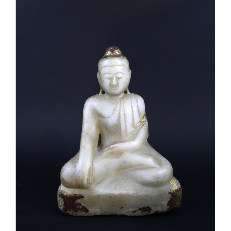 19th century alabaster Buddha