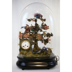 French Automaton with singing birds 19th century